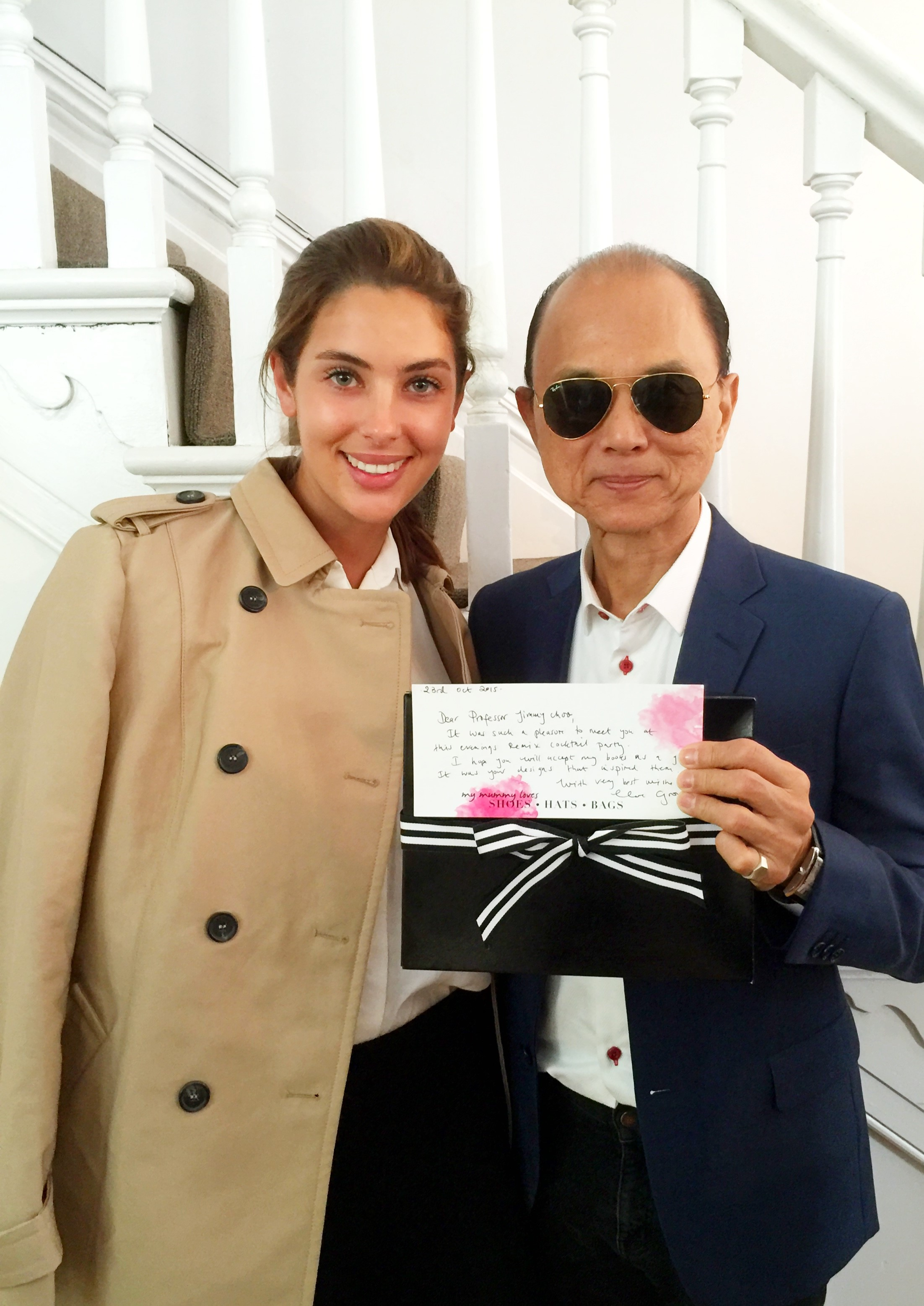 Prof Jimmy Choo with the Mummy Loves series